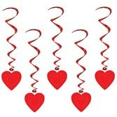 Valentine's Day Decorations Red Heart Whirls Image